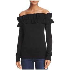 Endles Rose Ruffled Off-The-Shoulder Sweater